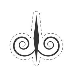 decoration ornament element swirl vector image