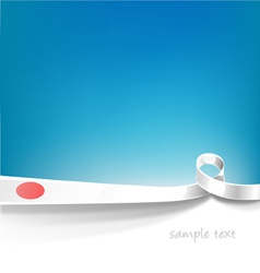 japan background flag vector image