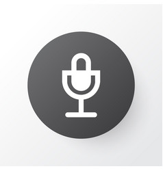 Microphone icon symbol premium quality isolated vector