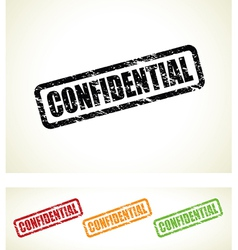 Confidential stamps vector