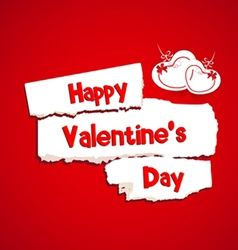 Happy valentines day with paper dripper vector