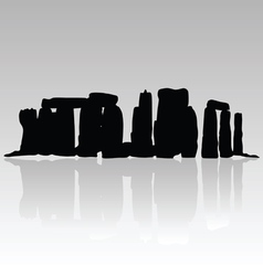 Stonehenge silhouette in black vector