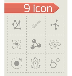 Atom icon set vector