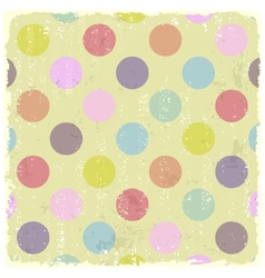 Retro Style polka dot grunge Pattern vector image