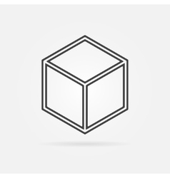 3d print cube sign icon vector