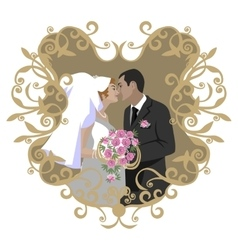 Wedding couple 08 vector