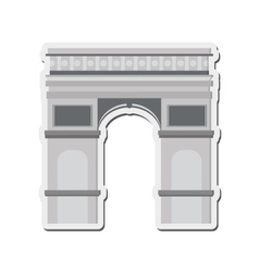 Arc de triomphe icon vector