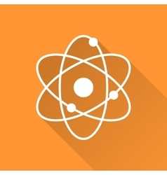 Atomic model icon vector