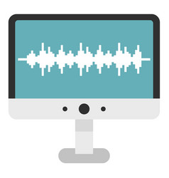 Audio technology monitor icon isolated vector