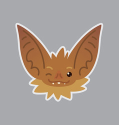 Bat emotional head blink eye emoji smiley icon vector