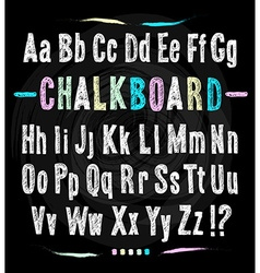 Chalkboard font Hand draw alphabet vector image