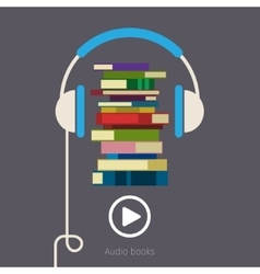 Concept of audio book vector image vector image