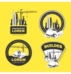 Construction color emblems vector