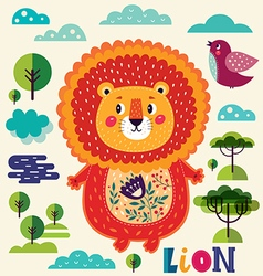 Cute lion vector image vector image