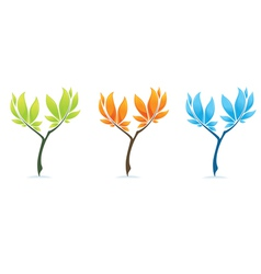 different trees vector image vector image