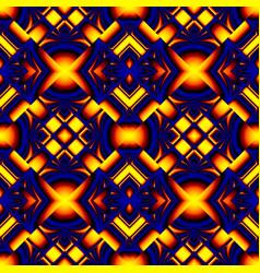 Fiery blue seamless pattern vector