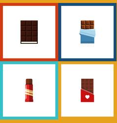 Flat icon chocolate set of dessert chocolate vector