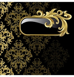 gold frame from abstract vector image