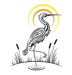 Heron Bird Background vector image
