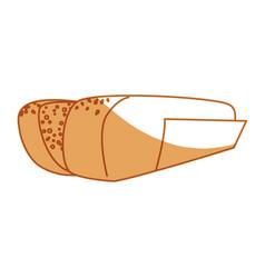 Hot dog bread vector