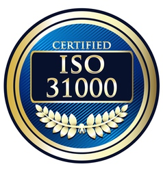 ISO 31000 vector image vector image