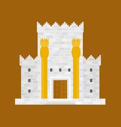 King solomon temple beit hamikdash in hebrew name vector