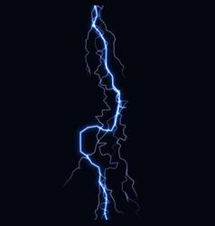 lightning flash light thunder spark on black vector image