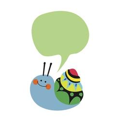 Lovely blue snail vector image