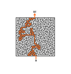 Maze isolated labyrinth game puzzle vector