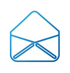 Open envelope email virtual web app vector
