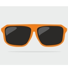 Orange hipster sunglasses vector image