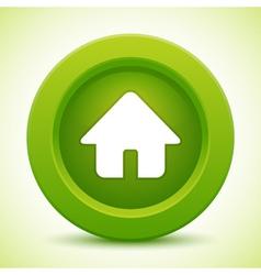 real estate green button vector image