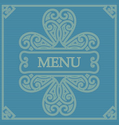 retro card for menu or for decoration vector image vector image