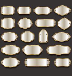 retro vintage silver frames collection vector image
