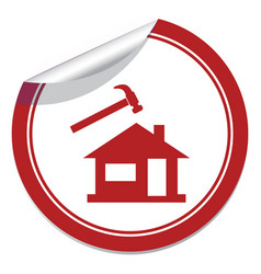 Roofer slater icon vector