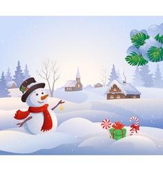 Snowy scene vector