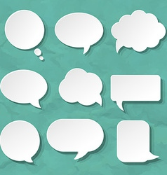 Speech Bubbles Set For Design vector image vector image