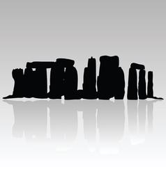Stonehenge silhouette in black vector