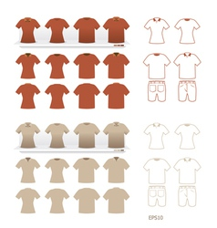t-shirt fashion set vector image vector image