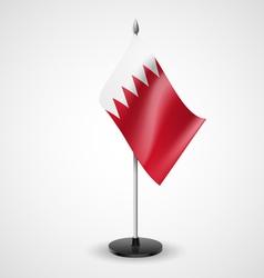 Table flag of bahrain vector