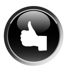 thumb up sign round button vector image vector image