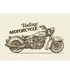 Vintage motorcycle Hand drawn sketch retro vector image