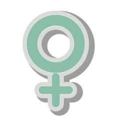 Female gender symbol icon vector