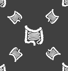 Intestines sign seamless pattern on a gray vector