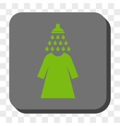 Shower Wash Female Dress Rounded Square Button vector image