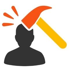 Head shock flat icon vector