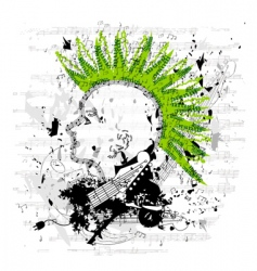 portrait of a punk youth vector image