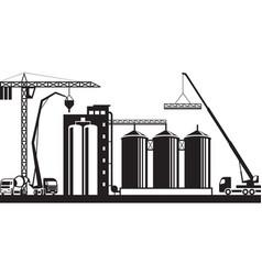 Construction of grain silo vector