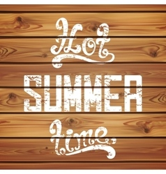 Hot summer time calligraphic handwritten vector