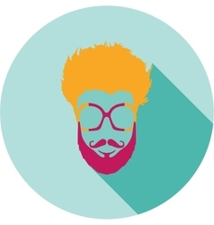 Super hero mask glasses beard hair flat style vector